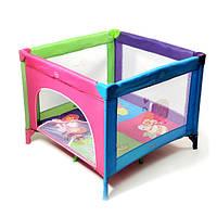 Детские манеж-кровать BT-597 PURPLE+ROSE