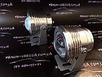 Алюминиевый водонепроницаемый фонарь 8W COB LED с линзой (серебристый)