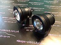 Алюминиевый водонепроницаемый фонарь 8W COB LED с линзой (черный)