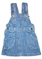 Джинсовый сарафан для девочки 1 год, рост 80 см, ТМ Одягайко
