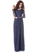 Платье вечернее стрейч-гипюр