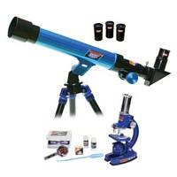 Детский Микроскоп и телескоп, подарок юным астрономам и докторам