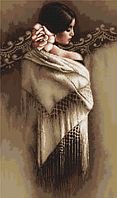"""Набор для вышивания крестиком (люди) """"Испанка с платком"""". Художник Ли Богл"""