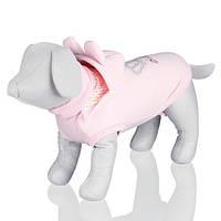"""?Костюм для собаки  """"Roma""""c капюшоном(флис) 33см, розовый, S."""