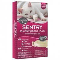 SENTRY ПУРРСКРИПШНС ПЛЮС (PurrScriptions Plus) ошейник от блох и клещей для кошек, 6 месяцев защиты