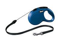 Поводок-Рулетка для собак до 12кг Флекси нью-классик 1, трос, 5м, синий