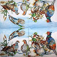 Салфетки декупажные Дикие птицы 3133