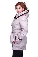 Стильная  курточка демисезонная с капюшоном большого размера