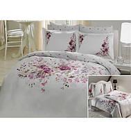 TAC сатин делюкс Полуторный комплект постельного белья Camila lilac