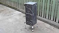 Буржуйка для отопления помещений до 25 м2. Металл изготовления 3-4 мм. Декорированная ковкой.