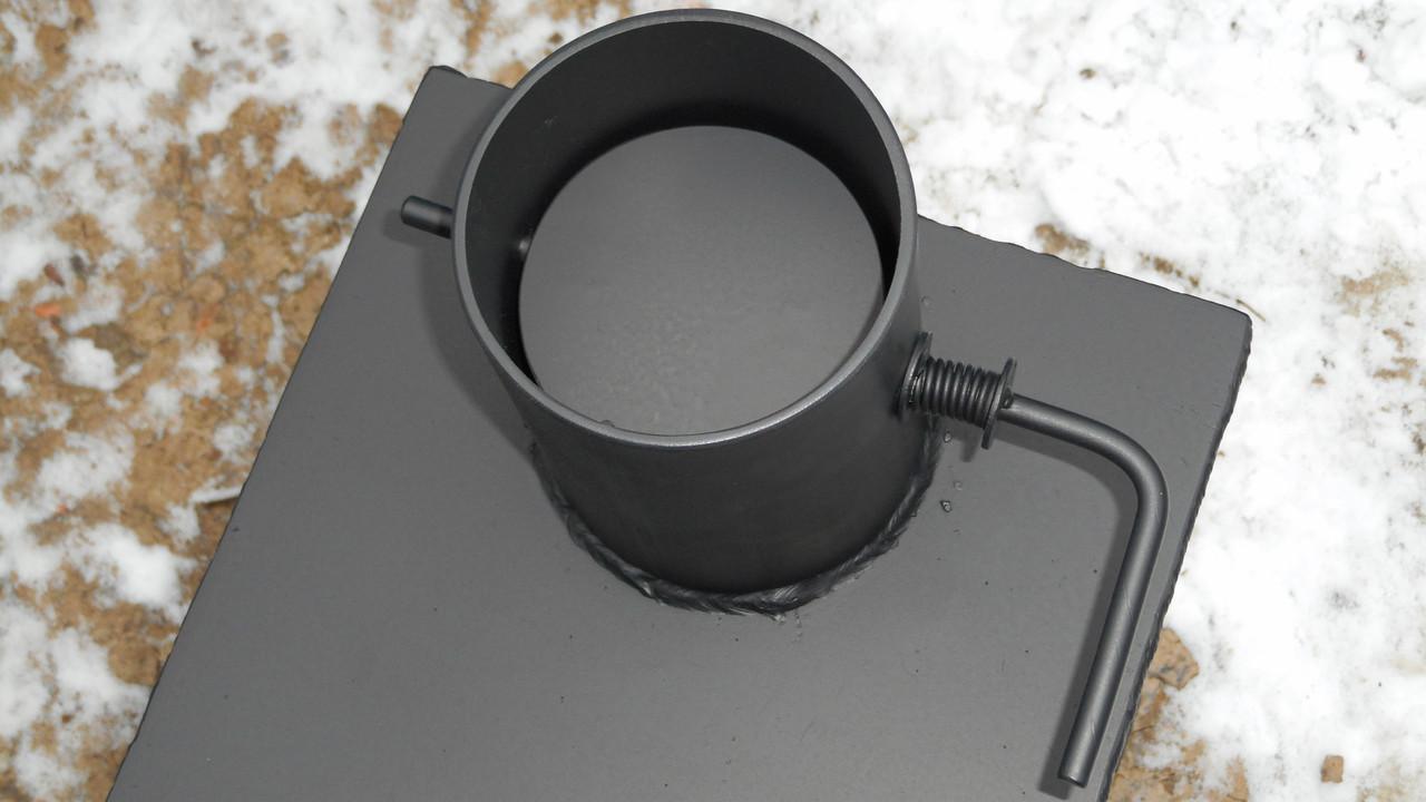 Как сделать заслонку на буржуйку на круглую трубу