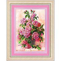 """Схема для вышивки бисером """"Розы в вазе"""""""