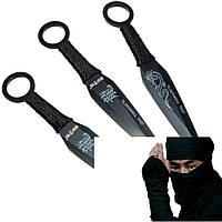 """Ножи метательные """" Меткий самурай """". Набор 3 шт. в чехле."""