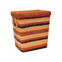 Корзина для белья Natural House оранжевая с крышкой S