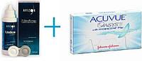 Контактные линзы Acuvue Oasys (уп)+ раствор Unica Sensetive 350ml