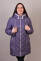 Женское демисезонное полу пальто размеры 52,54,56,58,60,62,64,66,68