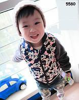 Теплая велюровая кофта Mickey Mouse для мальчика. 80, 90, 100, 110, 120 см