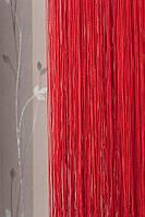 Шторы нити однотонные красные №17
