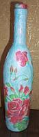 Сувенирная бутылка с розами оригинальный подарок