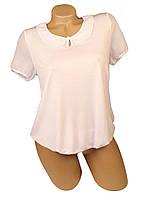 Блуза Мирабелла белая с воротничком.