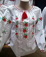 Женская вышиванка с мережкой Розы