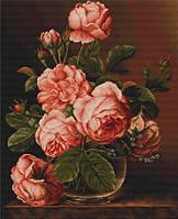 """Набор для вышивания крестиком (букеты) """"Ваза с розами"""""""