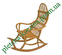 Плетеное Кресло-качалка из лозы (РАЗБОРНОЕ) Арт.12610