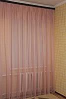 Тюль лен. Цвет розовый. Турция. Распродажа