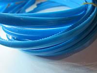 Обруч для волос пластиковый матовый простой 8 мм. Сине-голубой