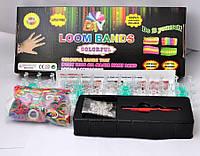 Набор Rainbow-Loom Bands для плетения браслетов из резинок, 600шт