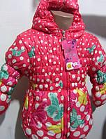 Яркая курточка для девочек на весну