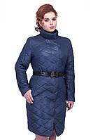 Женское весеннее стеганное пальто утеплителем
