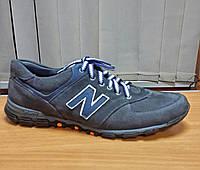 Кросовки натуральный нубук копия NEW BALANCE темно синие.