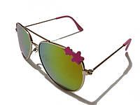 Детские солнцезащитные очки авиаторы, желтые