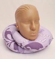 Дорожная подушка под шею Matrix, Фиолетовая с узором
