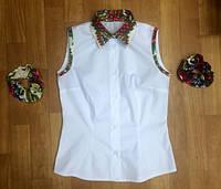 Рубашка  комбинированная без рукава