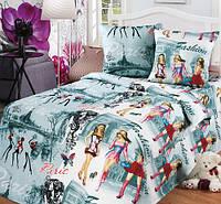 """Подростковое постельное белье Kidsdream """"Париж"""" полуторного размера."""