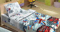 """Подростковое постельное белье Kidsdream """"Британія"""" полуторного размера."""