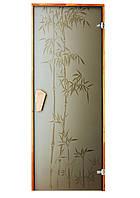 Стеклянная дверь Бамбук