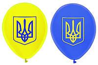 """Шары с рисунком """"Герб Украины"""" ассорти"""