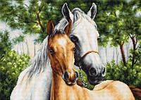 """Набор для вышивания крестиком (лошади) """"Мать и дитя"""""""