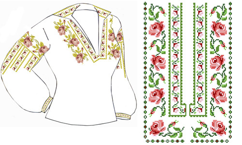 Схема Вышивки Блузок