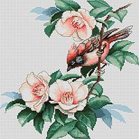 """Набор для вышивания крестиком """"Птичка в цветах"""""""