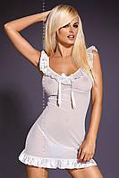 Чувственное белое платьице с рюшами, белье для невесты