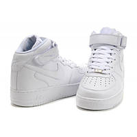 Кроссовки Мужские Nike Air FORCE Mid 1 All White