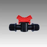Кран с наружными резьбами для пластиковой трубы Dn1/2x1/2(КСН 16х1/2x1/2)