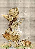 """Набор для вышивания крестиком (дети) """"Летний дождь"""". Художник Екатерина Бабок"""