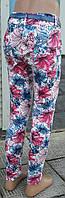 Лосины-брюки для девочек в цветах светлые