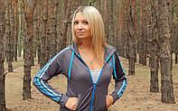 """Спортивная кофта (мастерка)  женская Adidas """"Триколор"""" с длинным рукавом"""