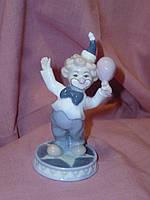 """JP-19/13 Декоративная фарфоровая статуэтка фигурка """"Клоун"""" итальянской компании Pavone 10 сантиметров высота"""